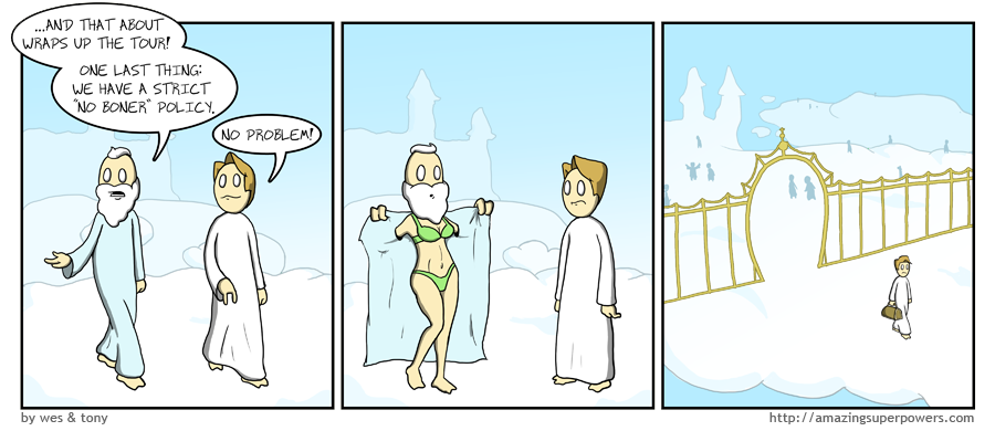 We waited several months before posting this comic because it made us feel weird inside.