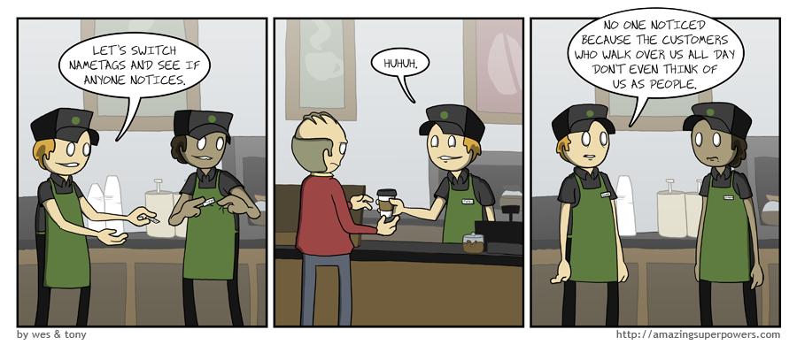 Fleshy coffee bots.