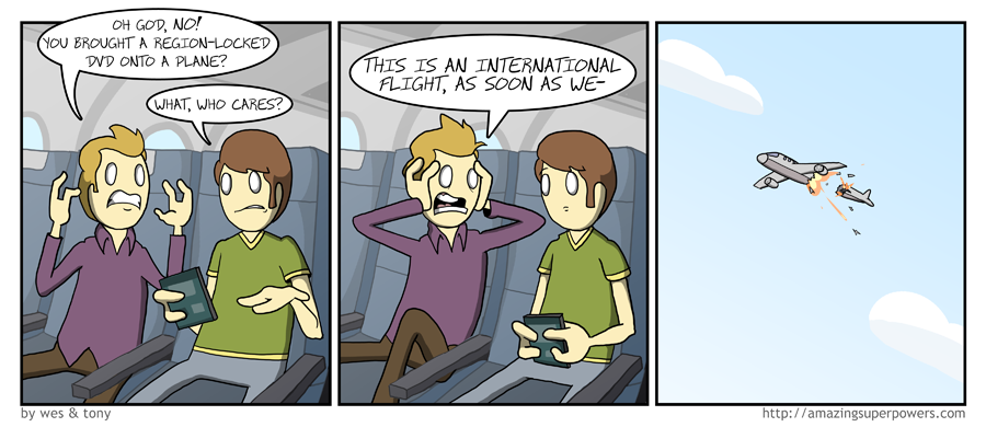and that's why you can't bring DVDs on planes