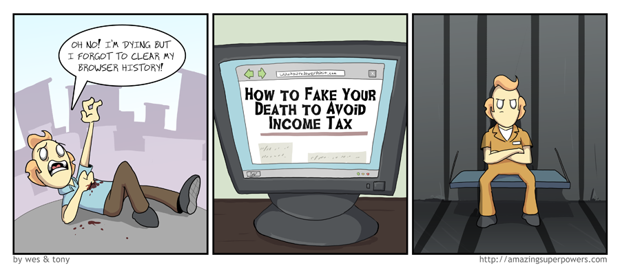 ''Officer, I swear that I just get off to reading about tax evasion.''